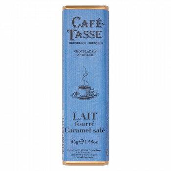 20%OFFクーポン配布中 CAFE-TASSE(カフェタッセ) 塩キャラメルミルクチョコ 45g×15個セット 送料無料 メーカー直送 代引き・期日指定・ギフト包装・注文後のキャンセル・返品不可 欠品の場合、納品遅れやキャンセルが発生